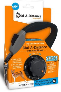 Dial-A-Distance Retractable Dog Leashes