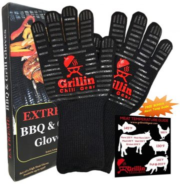 Grillin Chill Gear BBQ Grill Gloves