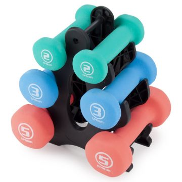 Crown Sporting Goods Dumbbell Sets with Rack