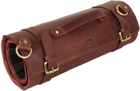 Rustic Town Leather Knife Rolls