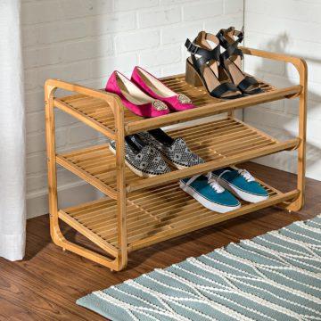 Honey-Can-Do Wooden Shoe Racks