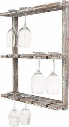 MyGift Wine Glass Racks