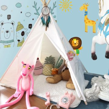 Anpro Teepee Tent for Kids