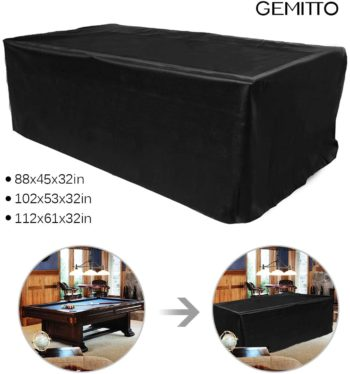 GEMITTO Pool Table Covers