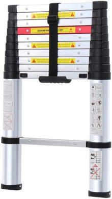 WolfWise 10.5FT Aluminum Telescoping Ladder