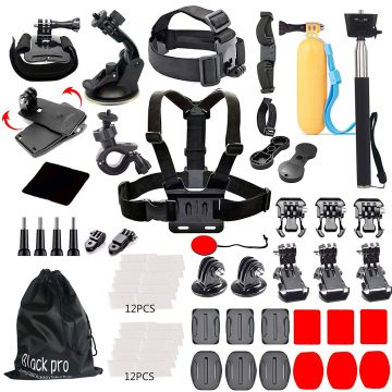 Black Pro GoPro Accessory Kits