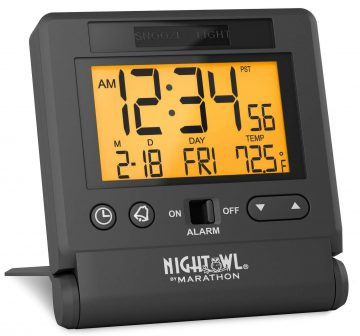 Marathon Travel Alarm Clocks