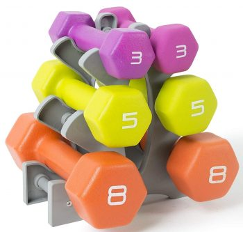 Tone Fitness Dumbbell Sets with Rack