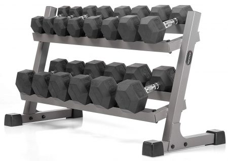 XMark Fitness Dumbbell Sets with Rack
