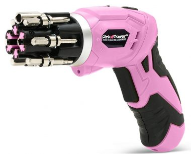 Pink Power Cordless Screwdrivers