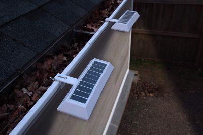 TOUCHOFECO Solar Gutter Lights