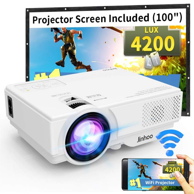 CRENOVA XPE496 Mini Projector Full HD 1080P and 170/'/' Display Supported