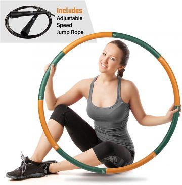 Easy to Spin Premium Quality and Soft Padding Hula Hoop HEALTHYMODELLIFE Fitness Hula Hoop by Healthy Model Life